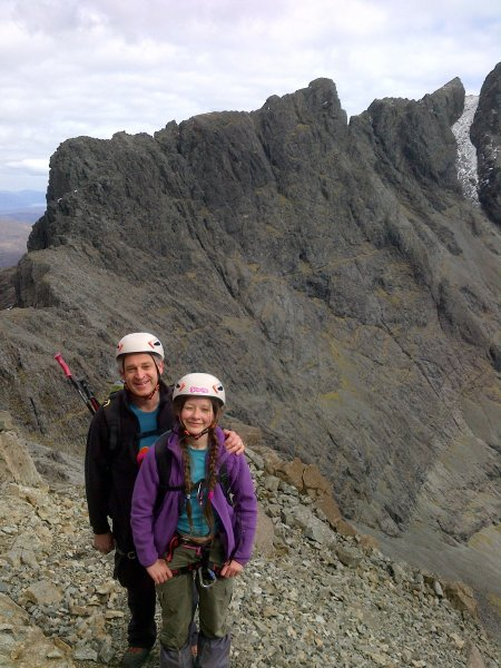 Coire Lagan from the Pinn with Holly