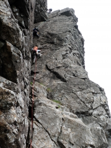 Skye Guides on Kings Chimney