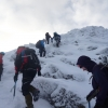 Mark leading the way in the upper reaches