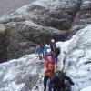 icy slabs above the Basteir Gorge