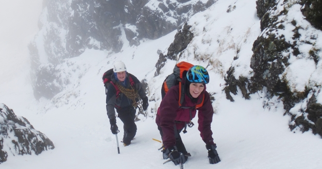Mark n Marissa in easy lower section of Great Gully