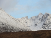 Coire Lagan view evening Friday 15th