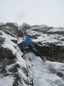 """Start of """"The Sheriff's Ransom"""" V,6. New route on Alasdair"""