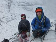 Natahn & I at top of Oql Chimney